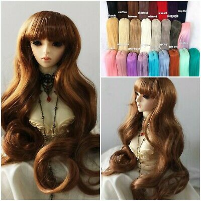 BJD Hair Wig Heat Resistant Long Straight 8-9 Carrot can custom-made