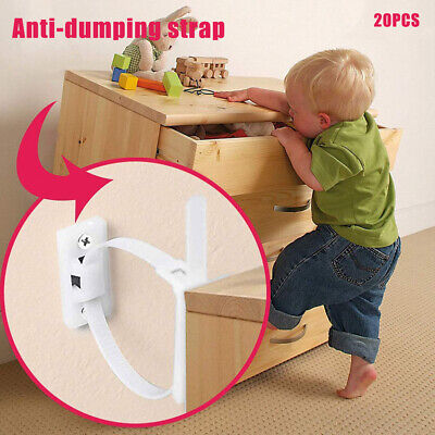 20Pcs Furniture Anchors for Baby Proofing Straps Anti Tip Furniture Wall Anchors