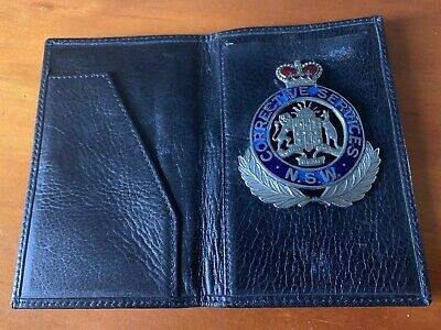 NEW SOUTH WALES CORRECTIVE SERVICES metal & Enamel badge  / Wallet, Numbered