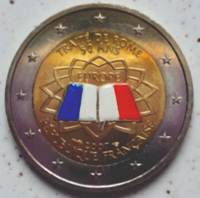 France 2007 - Traite De Rome - Derniere Piece - 2 Euros Commemorative Couleur