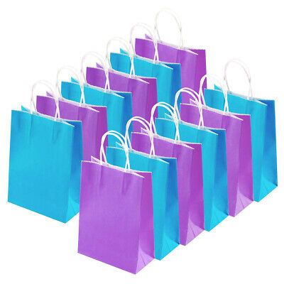 Bright Paper Party Bags - Gifts Bag With Handles - Recyclable Birthday Loot Bag