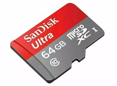 NEW Sandisk 64GB Ultra Micro SD SDHC TF Memory Card 100MBs UHSI Class10