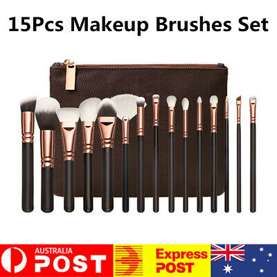 5/15Pcs Soft Pro Face Powder Makeup Brushes Set Eyeshader Blending Tool Kit NEW