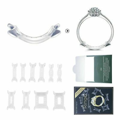14pc Ring Size Adjuster Invisible Reducer Guard For Loose Rings Snuggies AUstock