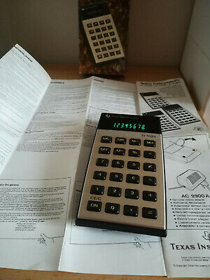 1977 VINTAGE Texas Instruments TI-1025 CALCULATOR box paper