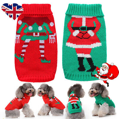 XMAS Dog Knitted Jumper Knitwear Christmas Clothes Pet Puppy Cat Sweater Apparel