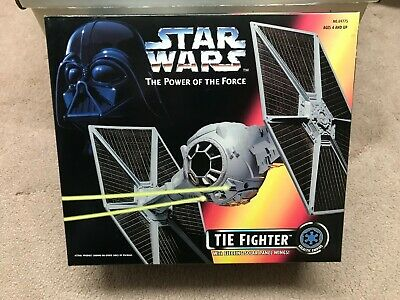 Star Wars Power Of The Force 1995 Tie Fighter Hasbro Factory Sealed MIB