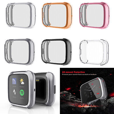 Silicone Protective Case Watch Frame Body Cover Housing Shell for Fitbit Versa 2