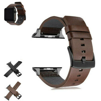 Genuine Leather Wrist Band Strap For Apple Watch iWatch 5 4 3 2 1 38/40/42/44MM