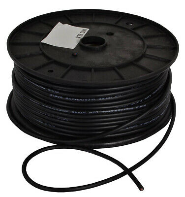 Microphone Cable Black - 100M Drum Reel *Grab A Bargain*