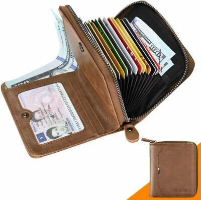 Men Wallet RFID Blocking BTNEEU Bifold Mens Small with Coin Pocket, Zipped Walle
