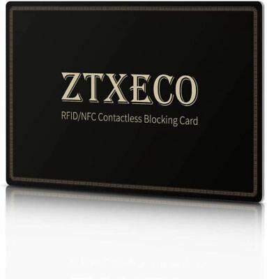 RFID/NFC Blocking Card ZTXECO® Anti-Theft Credit Protector Contactless Cards Pro