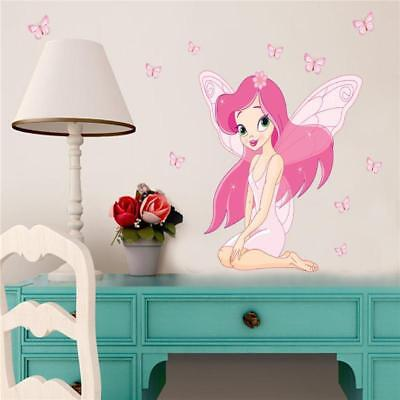 Fairy Princess Butterfly Decal Wall Stickers For Girls Baby Kids Room Decor