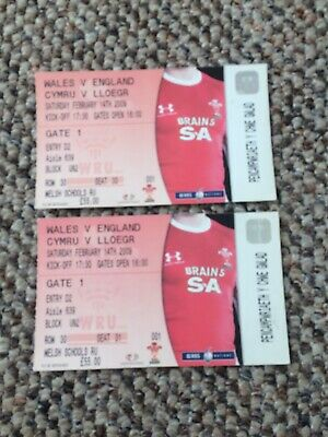 2 X RUGBY UNION TICKETS - WALES v ENGLAND  2009 — Exc