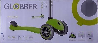 NEW SEALED Globber Primo Kids Children's Child Play 3-Wheel Scooter - Green