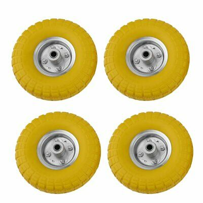"4 X 10"" Solid Rubber Sack Truck Trolley Wheels Spare Relacement Tyres Barrow B"