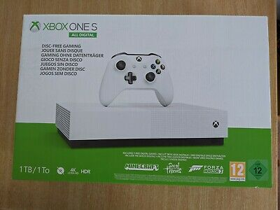 Xbox One S All-Digital Edition 1TB-White BNIB includes 3 games and controller