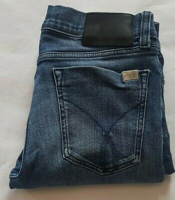 Calvin Klein Ladies Jeans W28 L32 Blue Straight Fit Stretch Size 28x32 28in 32in