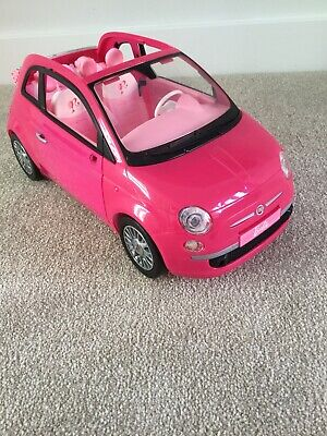 Barbie Fiat 500 Pink Car - Barbie Fiat Doll Not Included