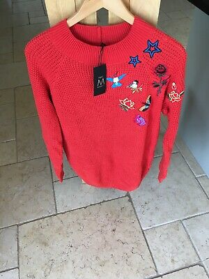 Next Maternity Jumper Top Red Size 10