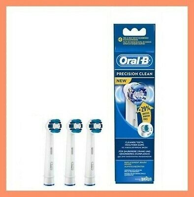 Braun Oral-B PRECISION CLEAN Toothbrush Replacement Brush Heads 3 Pack