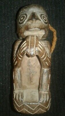 PreColumbian Carved Wood shape ( Monkey)Lime Container ,Chimu-Moche, chavin,maya