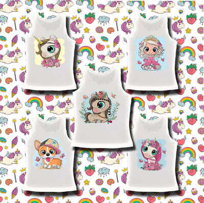 Girls Kids Vests Cute Unicorne