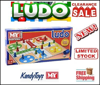 M.Y. Traditional Full Size Ludo Family Board Game Kids Toy Classic Perfect Gift