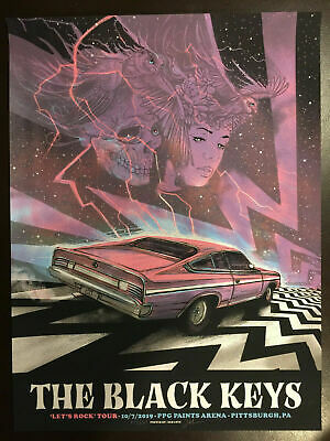 The Black Keys 2019 Pittsburgh Pa Poster 10-7 Lets Rock Tour Ae Signed Zeb Love