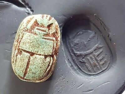 Superb Extremely Rare Ancient Egyptian Scarab Seal Pendant.5,2 Gr.22 Mm