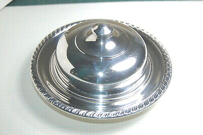 Manchester Silver Co Sterling Round Covered Dish  w/Glass Insert