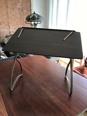 "36 x24"" Vintage Drafting Writing Craft Lunch portable rectangular folding Table"