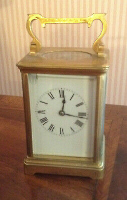 R & Co Striking Brass Carriage Clock