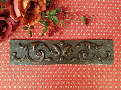 Small Antique French Hand Carved Oak Frieze - C1900