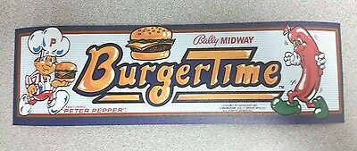 Burger Time marquee sticker. 3 x 10. (Buy any 3 of my stickers, GET ONE FREE!)