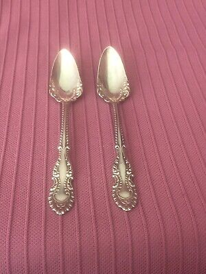 TWO [2] ANTIQUE Wm A. ROGERS SILVER PLATE FRUIT SPOONS PAT.1897