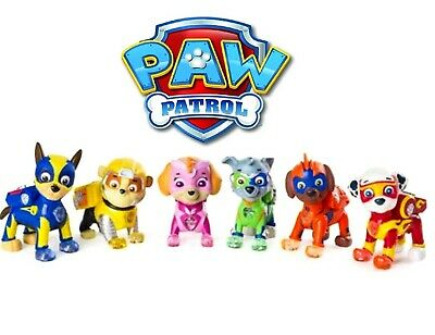 Patrol Mighty Pups Pup Pals Assortment Plush Sky, Rubble, Chase, Rocky & Friend