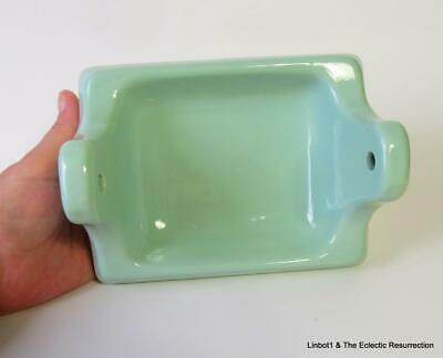 Vintage Seafoam Ming Green Toilet Paper Holder Bathroom Fixture Crown Japan 60s