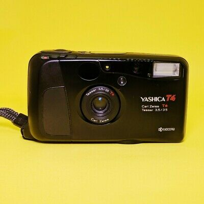 Yashica T4 35mm Point And Shoot 35mm Camera Fully working with photo!Film Tested