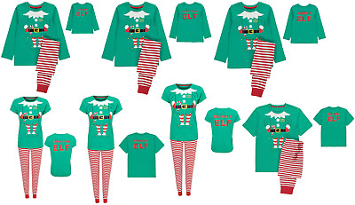 Family Christmas Elf Pyjamas 100% cotton Mummy Daddy Sister Brother Nan Grandad