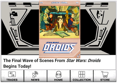 Presale-Scenes From Droids-4 Card Wave 4 Tan Set-Topps Star Wars Card Trader