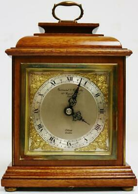 Vintage Garrard Of London Mahogany Mantel Carriage Clock Platform Escapement