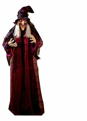 Life Size Hanging Animated Talking Witch Halloween Prop Decor 71 inch