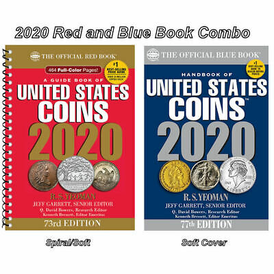 2020 Red Book Price Guide, Spiral and 2020 Blue Book, Handbook of U.S. Coins