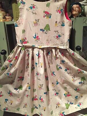 Girls Joules Christmas Scene Party Dress Age 11