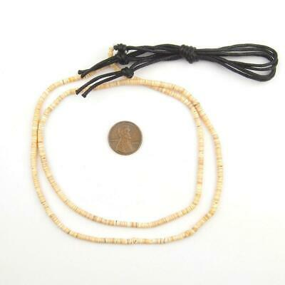 Beige Natural Shell Heishi Beads 3mm Brown 27 Inch Strand