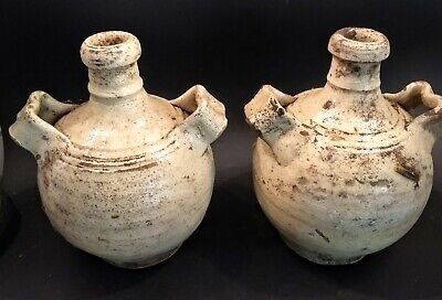 Pair of Antique Glazed Vessels - TURKEY - 19th Century or Earlier