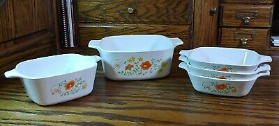 VINTAGE CORNING WARE SET OF 5 MINT CONDITION - Spice of Life - Bowls Serving Set
