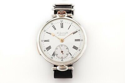 Antique LeCoultre & Co 1 minute Repeater Sterling Silver 0,925 Swiss Men's Watch