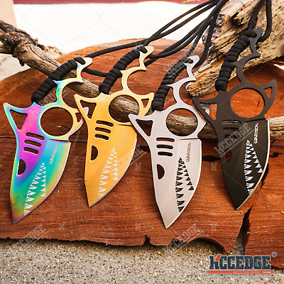 "6"" Shark Full Tang Fixed Blade Knife Razor Sharp Tactical Survival Camping Tool"
